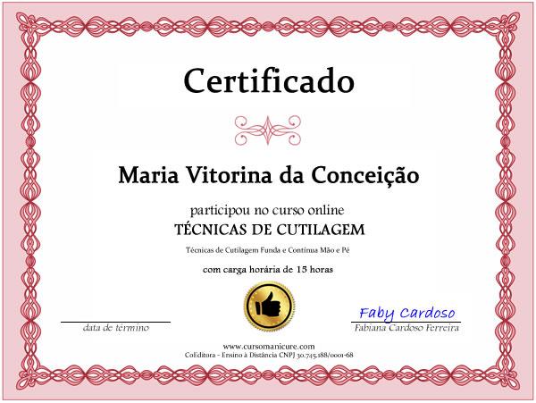 certificado curso cuticulas