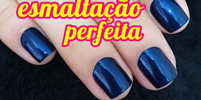 Como Esmaltar Perfeito Azul