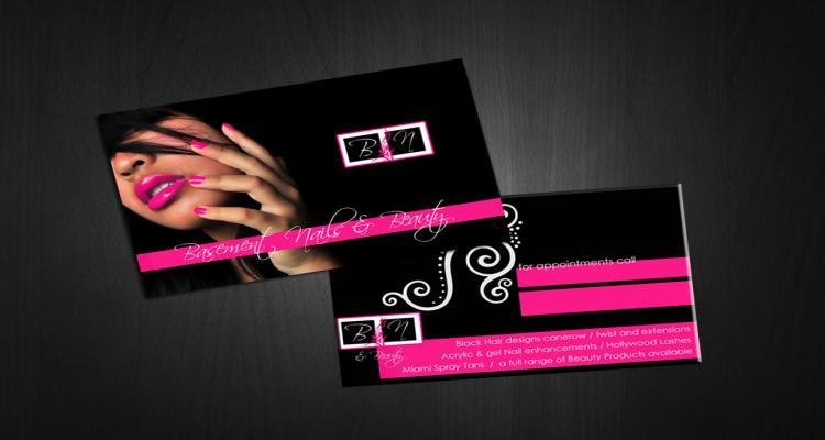 Ideias de cartão de visita para manicure
