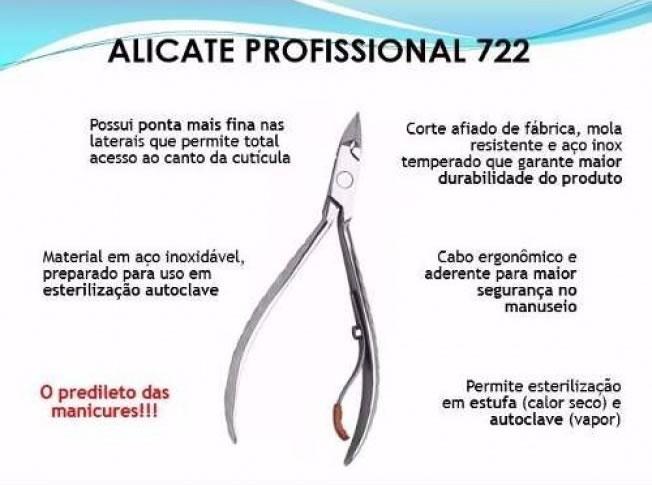 alicate profissional manicure 722